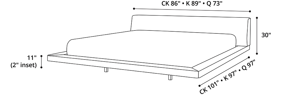 Jane Cal King Bed