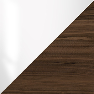 Image of Glossy White and Walnut