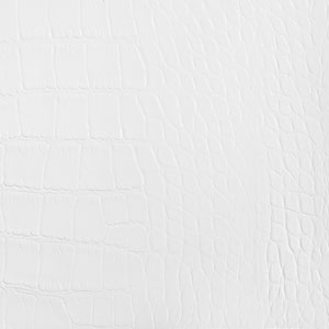 White Crocco Reclaimed Leather