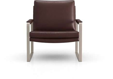 Charles Lounge Chair in Brunette Vintage Leather