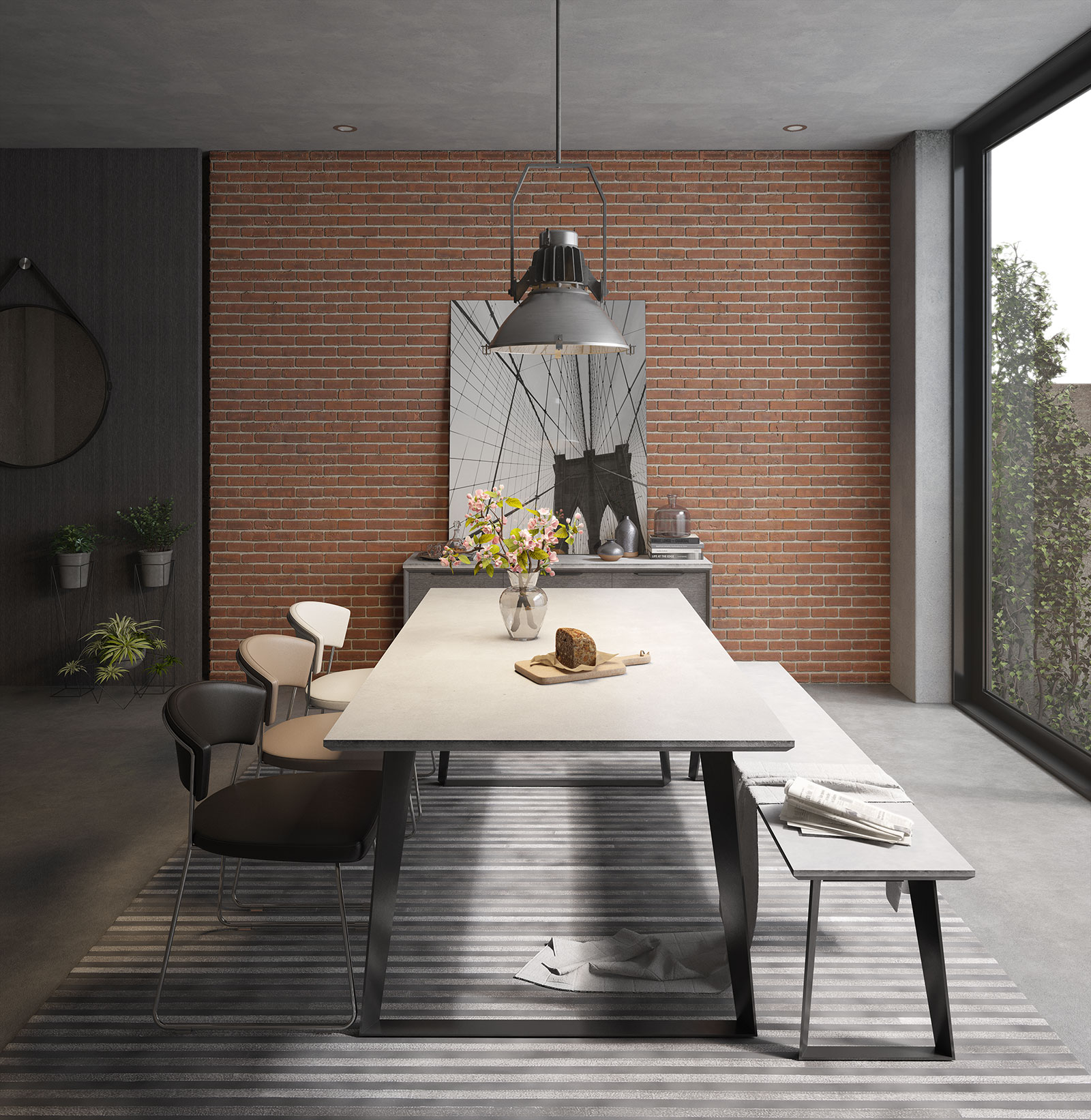 Modloft Amsterdam Dining Table DE GHT 111C ficial Store