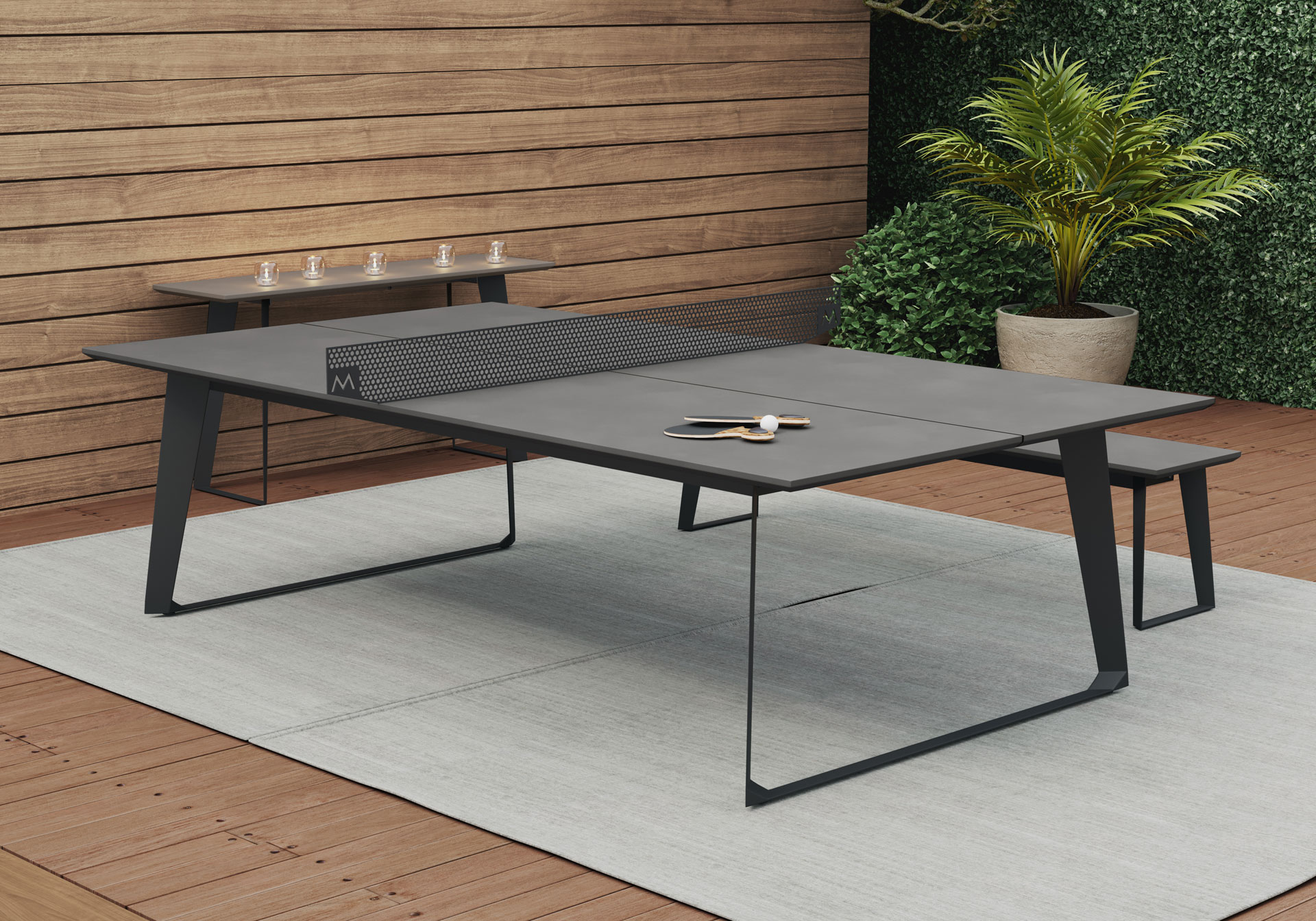Modloft Amsterdam Outdoor Ping Pong Table DE GHT PPTBLC OD