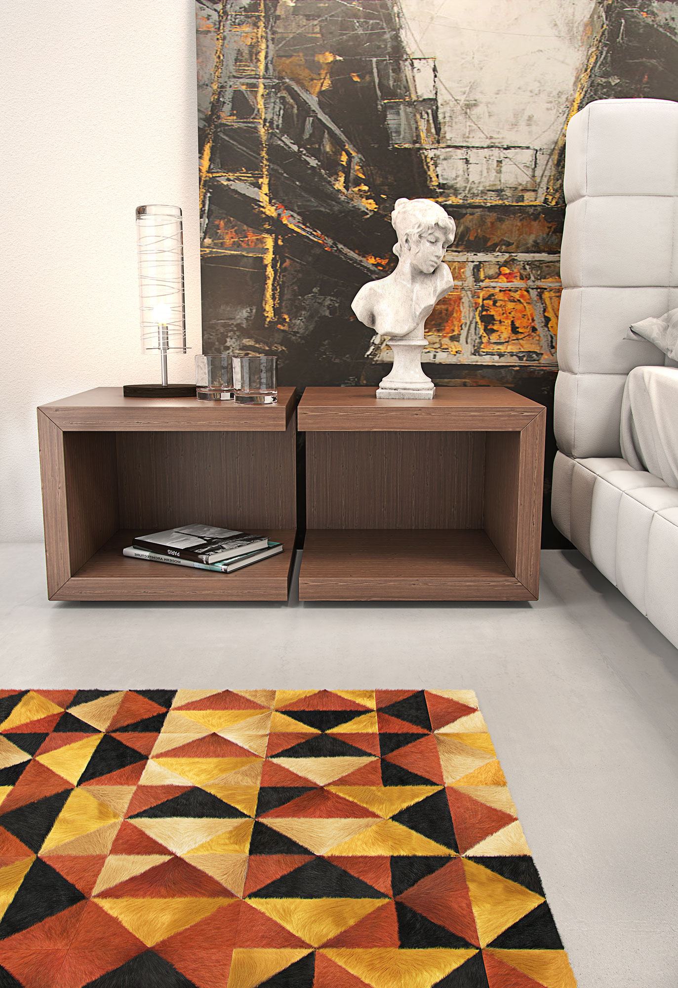 Modloft Ludlow Bedside Table MD317 NS ficial Store