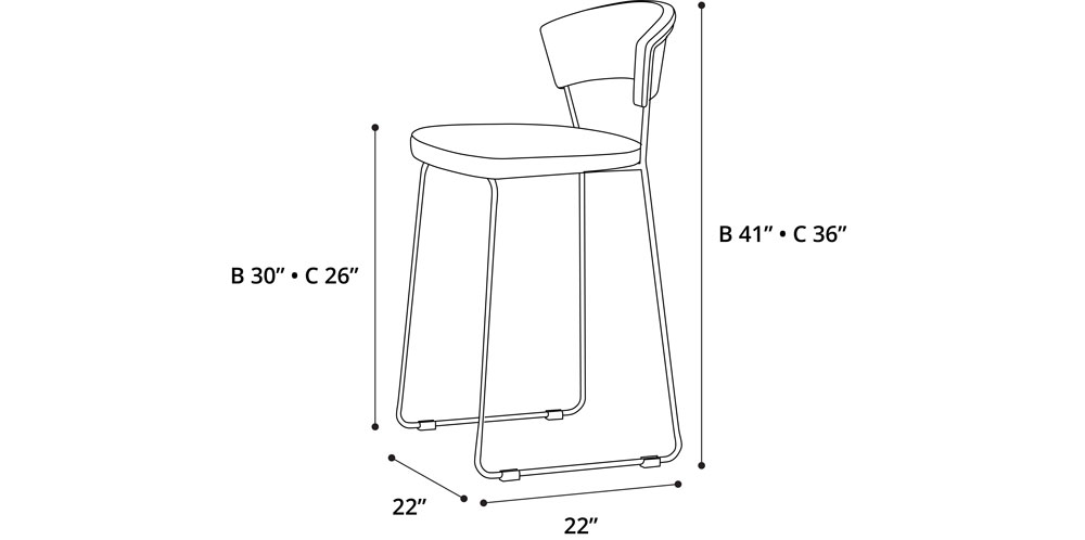 Delancey Counter Stool