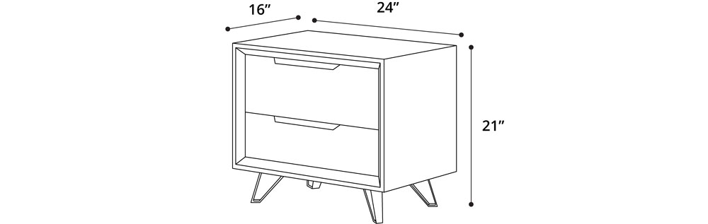 Perfect Night Stand Dimensions I To Design Decorating