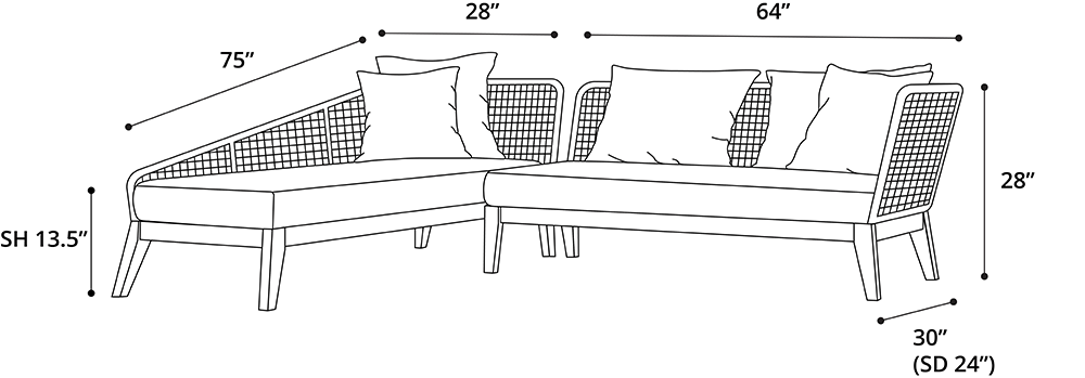 Netta Right Sectional Sofa