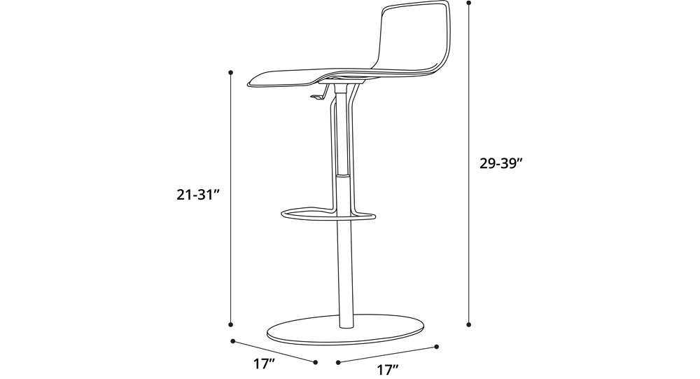 Prato Adjustable Barstool
